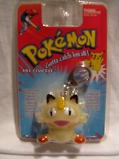 Pokemon Meowth Figure Light Up Keychain / Backpack Clip 1999 Tiger Unopened MOC
