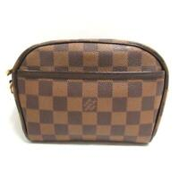 LOUIS VUITTON Pochette Ipanema Shoulder crossbody Bag N51296 Damier Brown Used