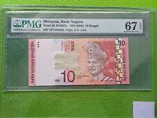 2004 Malaysia 10 Ringgit 1st prefix - Superb Gem Uncirculated PMG67 EPQ