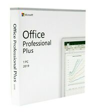 Microsoft Office 2019 Professional Plus Full Version Key with Retail DVD for 1PC