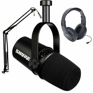 Shure MV7 Pro XLR/USB Microphone Broadcast Podcast Bundle - Black