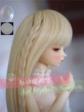"7-8"" 1/4 BJD Blonde Long Staight Wig LUTS Doll SD DZ DOD MSD Fairyland Hair +Cap"