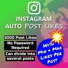 3000 x IG Auto Post Likes