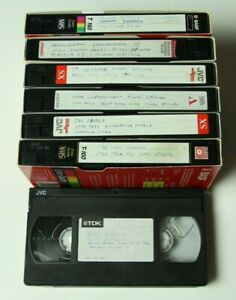 7 VHS Used Sold as Blanks TV Series Finales - Star Trek Lost ER Xena Buffy Angel
