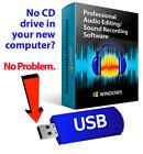 Audacity Professional Audio Music Editing-Recording Software-Beats-Windows-USB