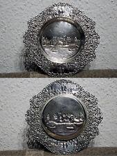Silberteller mit herrlichen Stadtmuster von Izaak Vos & Aldert Schoorl von 1918
