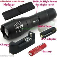 Rechargeable T6 LED Zoomable 18650/AAA Flashlight Torch Light Lamp+Charger