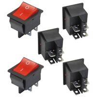5 x Rot Licht  Ein/ Aus DPST Boat Wippschalter 16 A / 250 V 20 125 AC B7O2