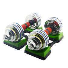 UK_ Gym Weight Lifting Equipment Dumbbell Storage Holder Stand Fixed Rack Base R