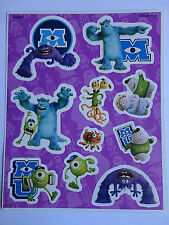 Disney Pixar Monster's University Stickers Sheet