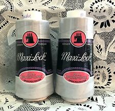 NEW 2 Pink maxi-lock 3000Yd spools 100/% polyester overlock sewing thread TEX 27