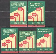 POLAND 1959 Matchbox Label - Cat.Z#149 The increase in production, fiberboard.