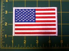 "american flag patch white border US United States  shoulder patch 3 5"" wide"