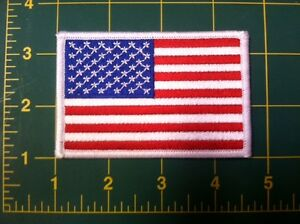 """american flag patch white border US flag United States usa flag patch 3.5"""" wide"""