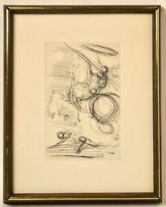 "Original Etching ""Don Quixote"" by Salvador Dali with COA"