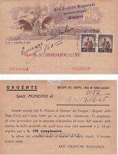 BASSANO: Testatina Arti GrafichenG. Rossi  1945