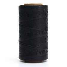 284yrd Waxed 150D 1mm Leather Hand Stitching Sewing Thread, Black