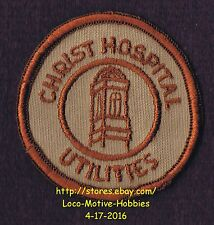 """LMH PATCH Badge CHRIST HOSPITAL Medical Center UTILITIES Utility Old Logo 2.3"""""""