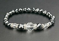 Black Crystal Magnetic Bracelet Hematite Bead Stretch Therapy Free Shipping Gift