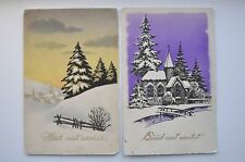 1929 & 49 Estonia Two NEW YEAR Postcards CANCELs