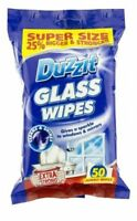 Jumbo Glass Window Mirror Cleaner Cleaning Wipes Pack Of 50 25% Extra Strong