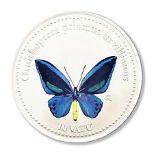 Vanuatu Butterfly Ornithoptera priamus urvillianus 10 Vatu 2006 Colored Legal Te