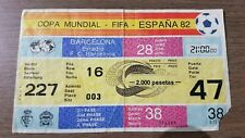 TICKET WORLD CUP 1982 BELGIE - POLEN
