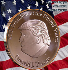 """Donald J. Trump 45th President"" 1 oz .999 Copper Round"