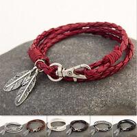 Femmes Hommes Mode Nouveau Wrap Tressé Bracelet Bangle 7 Couleurs