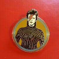 David Bowie Pin Ziggy Stardust Music Fan Enamel Retro Metal Brooch Badge Lapel b