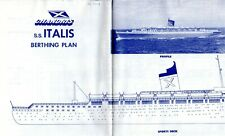 Rare Chandris Italis Pont Plan (Ex-America/Australis) - Nautiques Navires Monde