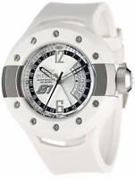 Invicta Men's 1368 S1 Rally GMT Silver Dial White Polyurethane Watch NWT