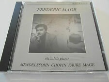 Frederic Mage - Recital De Piano ( CD Album ) Used very good