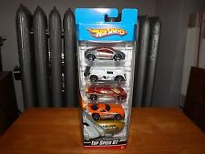 HOT WHEELS TOP SPEED GT 5 CAR SET, NEW IN PACKAGE, 2008