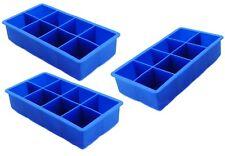 3er Set XXXL Jumbo Eiswürfel Form 5x5cm 8-fach Silikon Eisform Eiswürfelform Eis