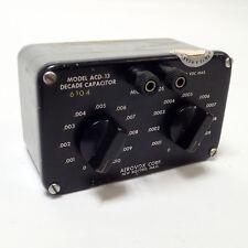 AEROVOX ACD-13 PRECISION DECADE CAPACITOR 2 RANGES .010uf & .0010MFD 11 STEPS ea