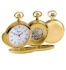 Woodford Chapado en Oro Completo Hunter Esqueleto Reloj de Bolsillo (1120)