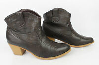Leather Boots Brown T 37 VERY GOOD CONDITION