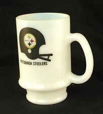 Vintage Pittsburgh Steelers Coffee Mug Milk Glass Style WIIC TV 11 Alive Cup EUC
