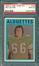 1972 OPC O-PEE-CHEE CFL FOOTBALL TED COLLINS #16 PSA 9