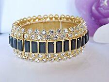 "Stunning Lia Sophia ""MODELINA"" Stretch Bracelet, Sparkling Crystals, NWT"