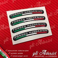 Set 4 Adesivi Cerchi Marchesini FORGED MAGNESIUM fondo nero