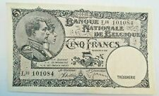 5 Francs 1938 <<== Variant Zeldzaam 1988 ==>> Belgïe Sontag Janssen #F4#