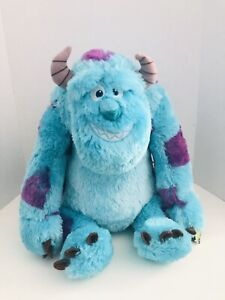 """Disney Sulley Plush Monsters Inc 18"""" Soft Cuddly Clean Condition With Tags!"""