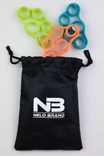Nelobrand Set of 3 Finger Stretcher Hand Exercise Resistance Bands Training Set