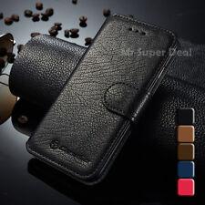iPhone 5s 5 Handy Leder Synthetisch Tasche Etui Flip Case Hülle Zubehör Schwarz