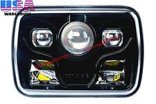 "1x 7x6"" Projector LED Headlight Black Rectangular Sealed Beam LED Headlamp 7x6"""