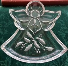 "Lenox Holiday Angel Candy Dish Clear Glass 9"" x 8"""