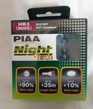 PIAA HB3 (9005) Night-Tec Twin Pack Bulbs 12V 60W ECE R37 DOT Compliant