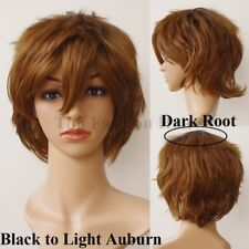 Unisex Short Cosplay Hair Wig Fluffy Straight Hinata Anime Party Costume Wig 2th
